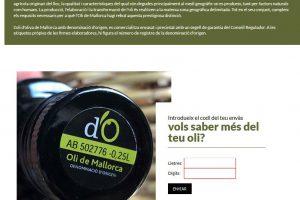 La consulta de la traçabilitat d'Oli de Mallorca, ja disponible a la nostra web